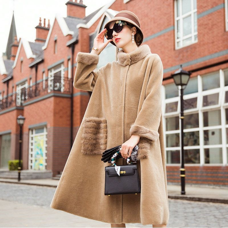 Sheepskin mouton Coat female jacket women's jacket fur coat wool coat Women's winter jackets real fur women's fur coats winter