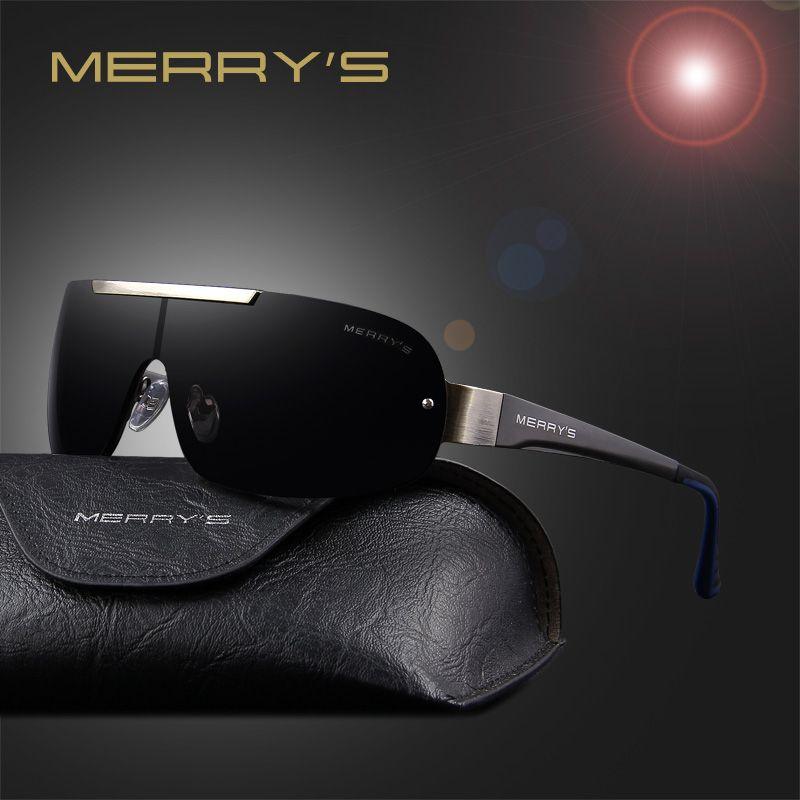 MERRY'S mode classique lunettes de soleil polarisées hommes marque Designer HD lunettes hommes lunettes intégrées lunettes de soleil UV400 S'8616
