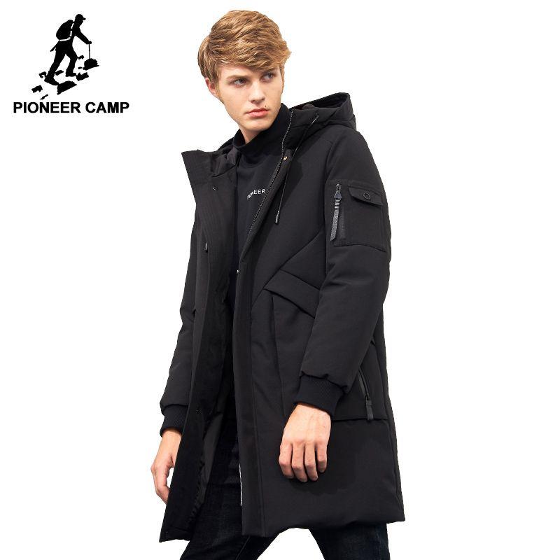Pioneer Camp wasserdichte starke winter männer unten jacke marke-kleidung mit kapuze warme ente unten mantel männlichen puffer jacke AYR705314
