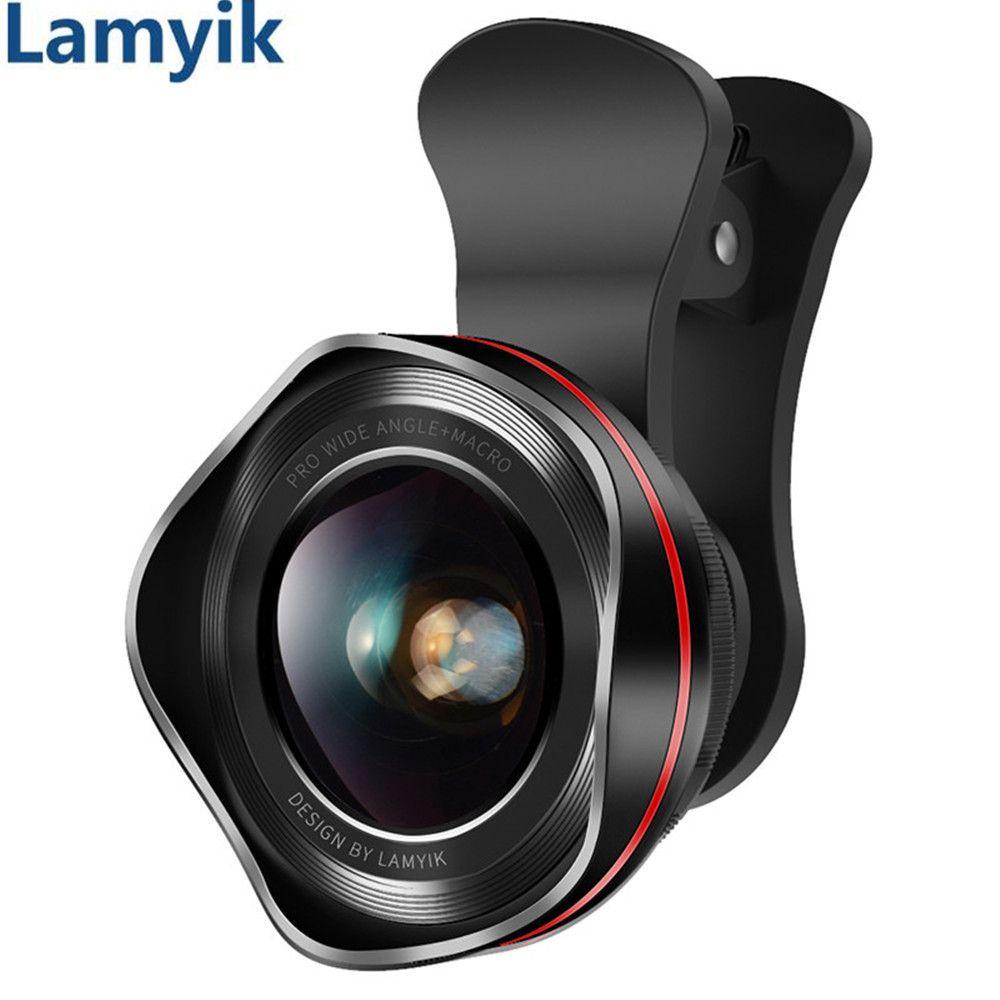 Lentille Pour Téléphone Caméra Lentille 180 Degrés Oeil de Poisson/130 Degrés Grand Angle/HD 15X Macro Lentille Clip -sur Optique 3 en 1 Kit pour Mobile