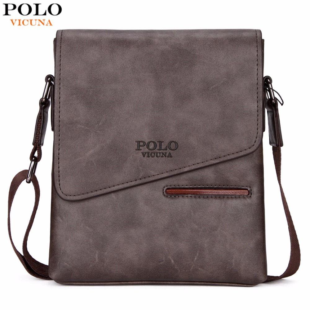 VICUNA POLO Vintage Frosted Leather Messenger Bag For Man Brand <font><b>Business</b></font> Man Bag Men's Shoulder Bags Front Pocket Men Handbag