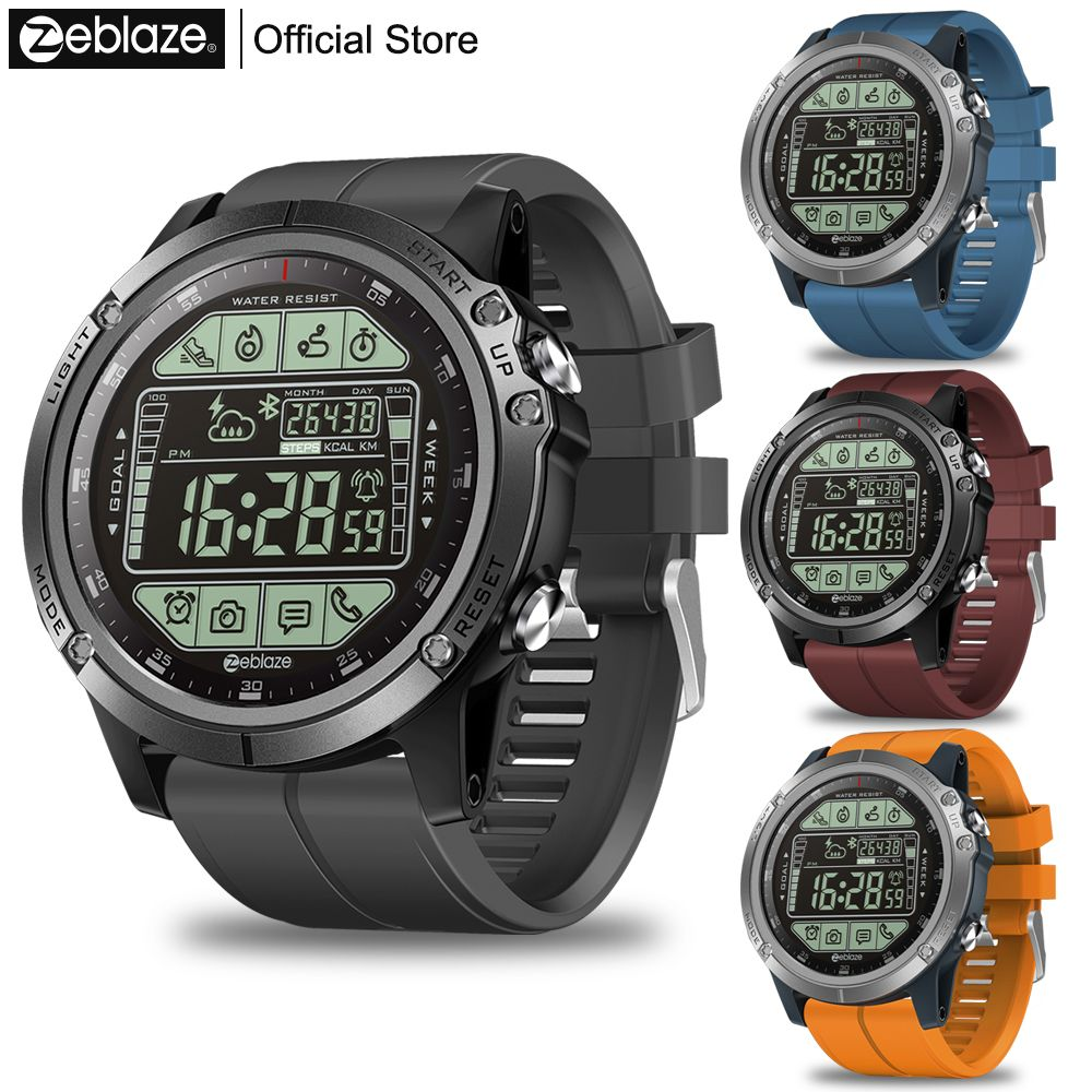 Zeblaze VIBE 3S Rugged Outdoor Smartwatch Real-time Weather Steps Calorie Distance Tracking 5 ATM/50M/164ft Water Resistant