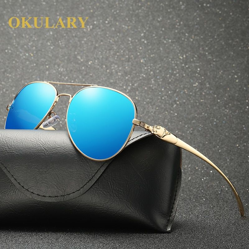 2018 Men Oval Mirror Polarized Sunglasses Black/Brown/Silver/Blue Lens Color UV400 Free Shipping