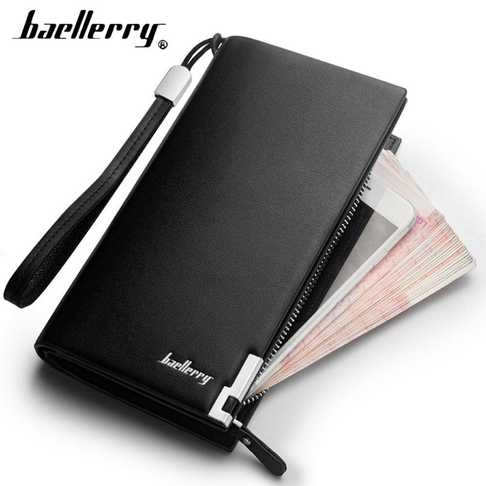 Baellerry luxe hommes portefeuilles longue fermeture éclair grande capacité Top qualité homme sac à main avec porte-carte multi-fonction portefeuille pour hommes 1N