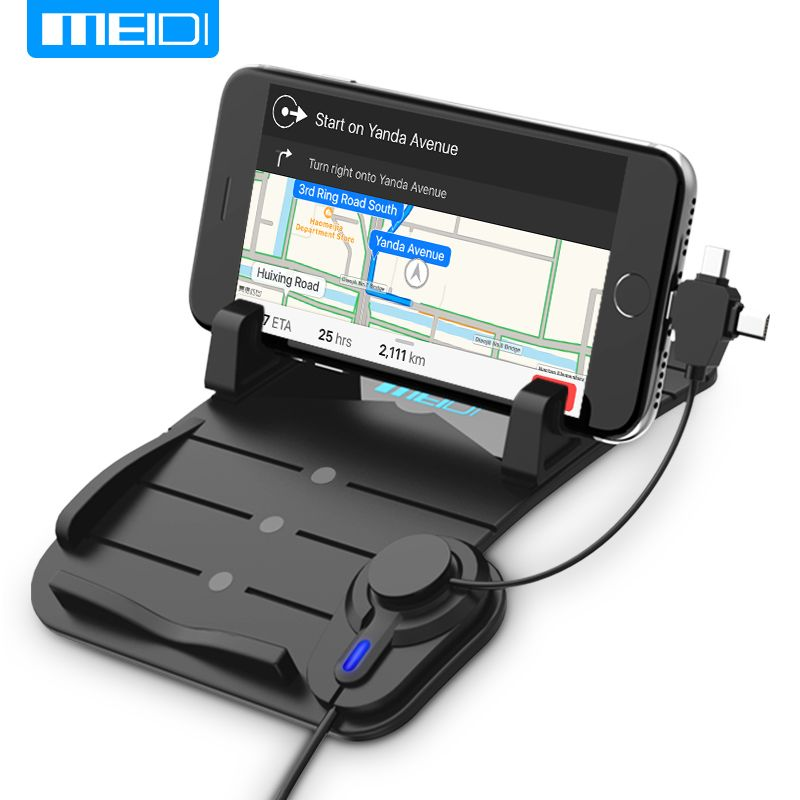 MEIDI Car Mount Phone Charger Holder USB with DC 5V 2.1A porta celular para Auto USB Car Charger fit for Samsung Android Type c