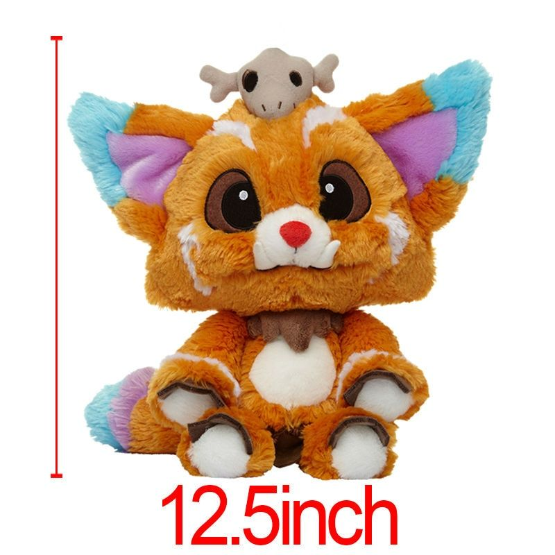 1PC 31cm NEW Anime Game Cute Plush Dolls World Championship Gnar The Missing Link Soft Stuffed Toys For Children Brinquedos