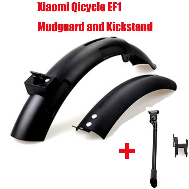 Bike Mudguard for Xiaomi Qicycle EF1 Electric Bike <font><b>Scooter</b></font> Tyre Splash Mudguard Parts Fender Shelf Rack Original New Replacement