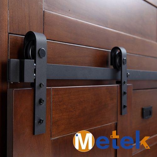 3.3FT en acier Au Carbone RÉEL mini porte coulissante matériel pour armoire de toilette