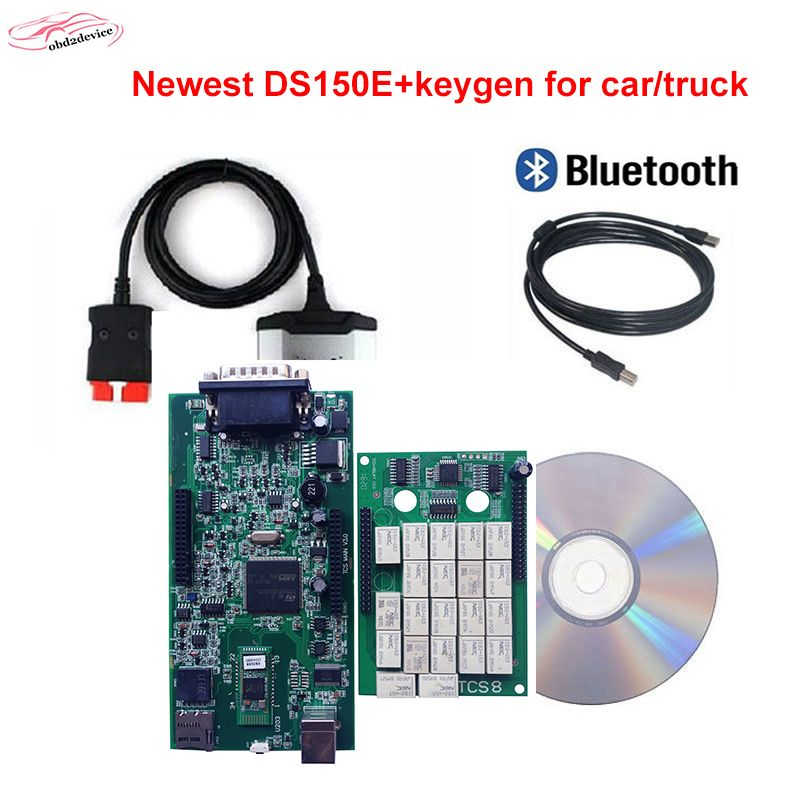 HOT Good OBD obdii scanner DS.I5OE. with keygen 2015.3 software with bluetooth for car and truck professional diagnostic tool
