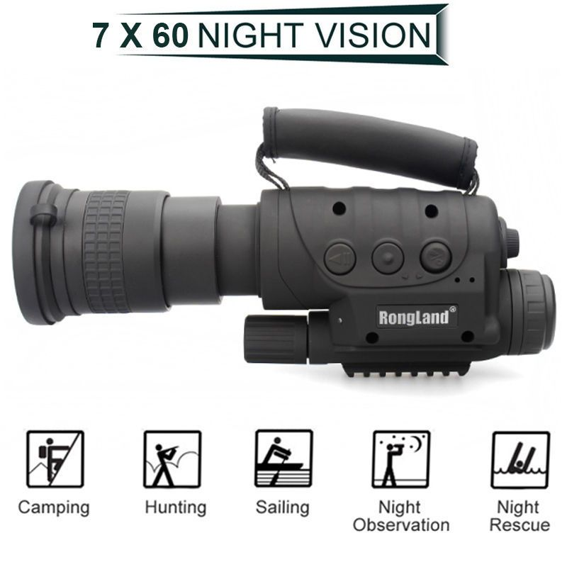 Rongland NV-760D+ Infrared Night Vision IR Monocular Telescopes DVR Record Digital Night Vision Device Binoculars For Hunting