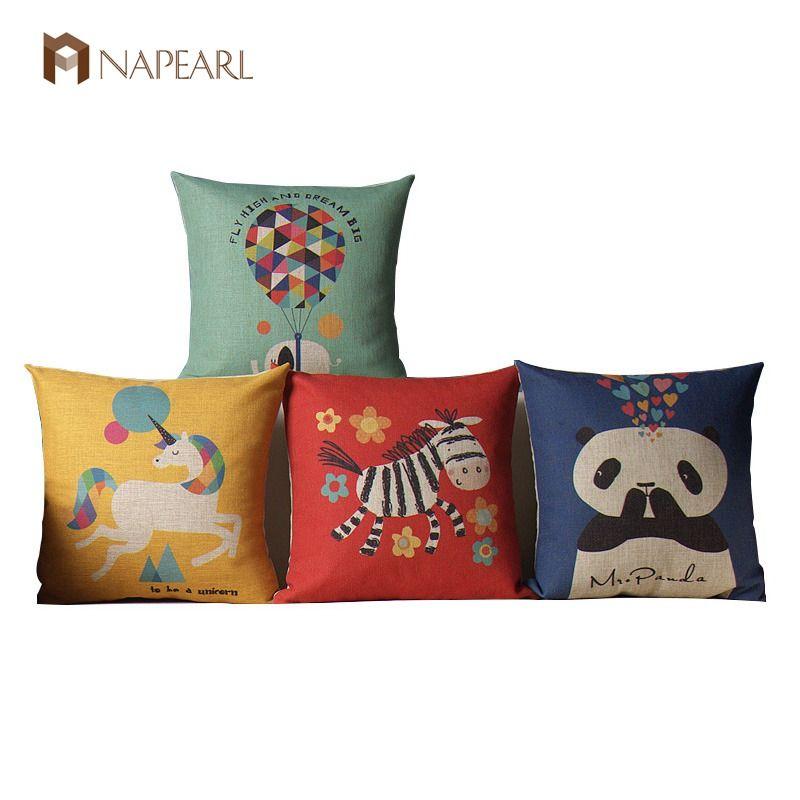 Horse elephant animal multicolour cartoon child eco-friendly fluid pillow sofa cushion car cushion set throw pillow