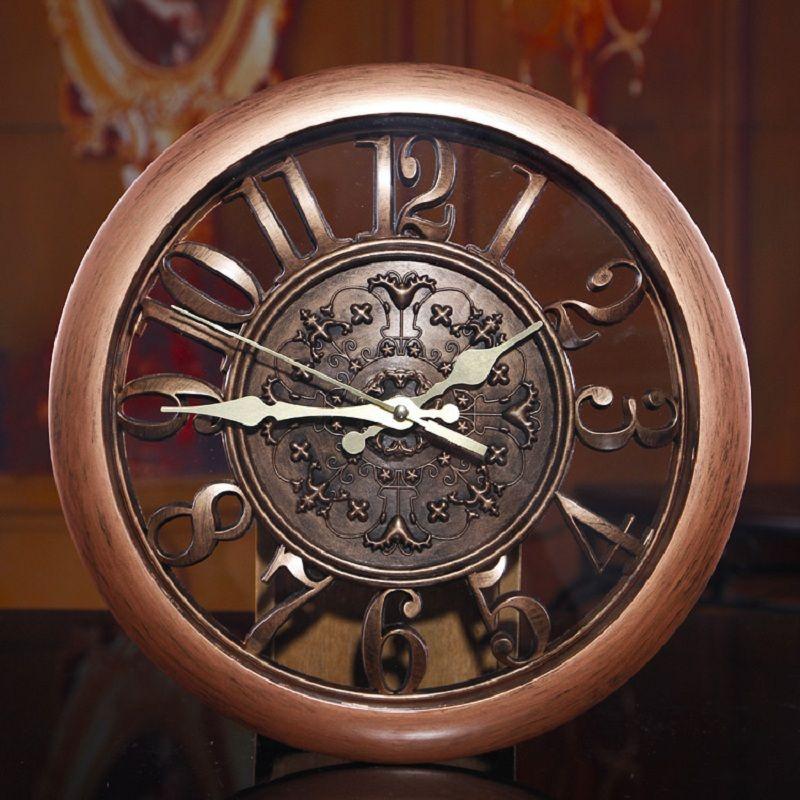 3D Wall Clock <font><b>Saat</b></font> Clock Reloj de Pared Duvar Saati Vintage Digital Wall Clocks Relogio de Parede Watch Horloge Murale Quartz