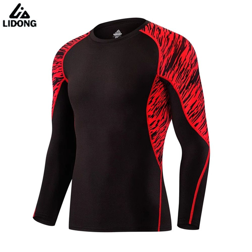 2017 New Men's Compression Shirts Camouflage Long Sleeve Breathable Men Bodybuilding Base Layer Tights Cycling Running T shirt