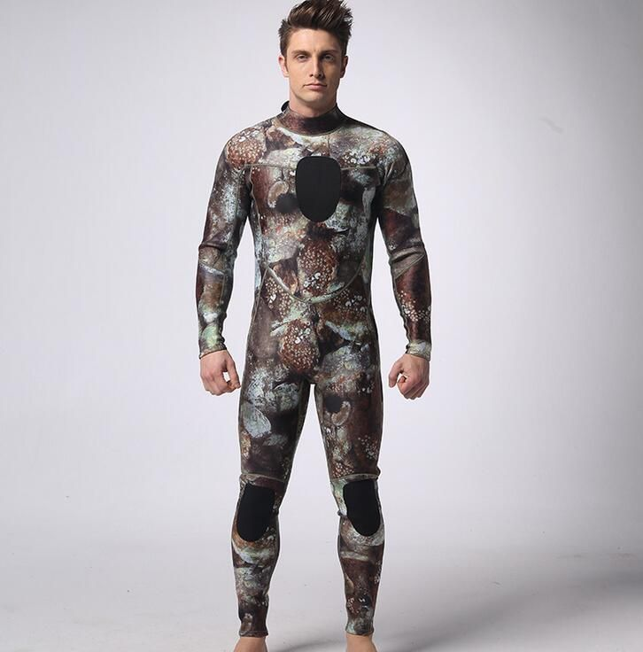 SCR 3 mm neoprene diving suits men spearfishing Surf camouflage suit diving equipment spearfishing suits split S-XXL