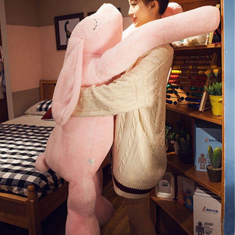 Fancytrader Korea 120cm Giant Plush Soft Animal Longer Ears Rabbit Toy Cartoon Sleeping Bunny Doll Gifts for Friends Kids