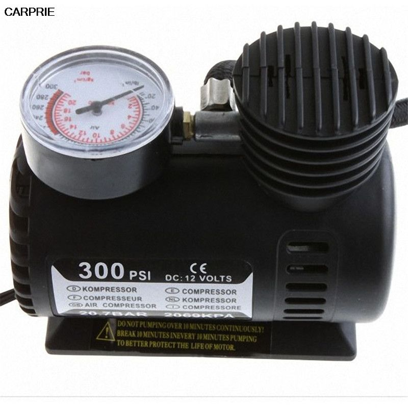 CARPRIE New Portable 12V Auto Electric Air Compressor Tire Inflator Pump 300 PSI for Car Motorcycle drop shipping