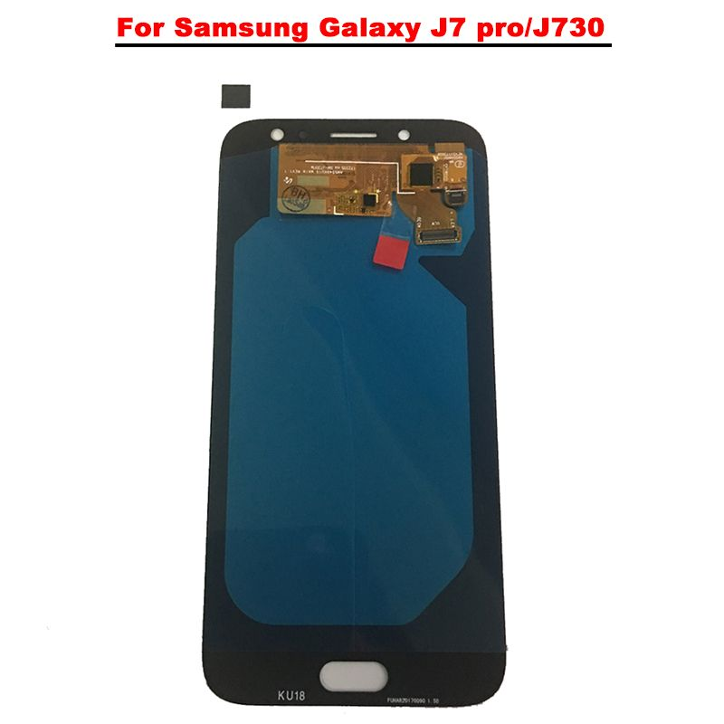 New Super AMOLED LCD J7 Pro 2017 J730 J730F Display 100% Tested Working Touch Screen Assembly For Samsung Galaxy J730 lcd