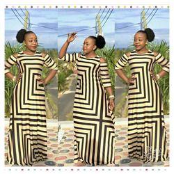 2017 African Clothing  Dashiki New Traditional Fashion Dew Shoulder  Design Bazin Super Elastic Plus Loose For Lady