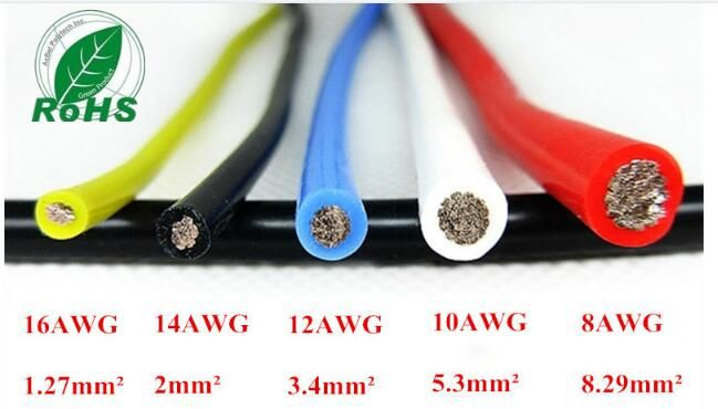 10AWG Flexible Silicone Wire RC Cable 10AWG 1050/0.08TS Outer Diameter 5.5mm 5.3mm Square Model airplane Wire