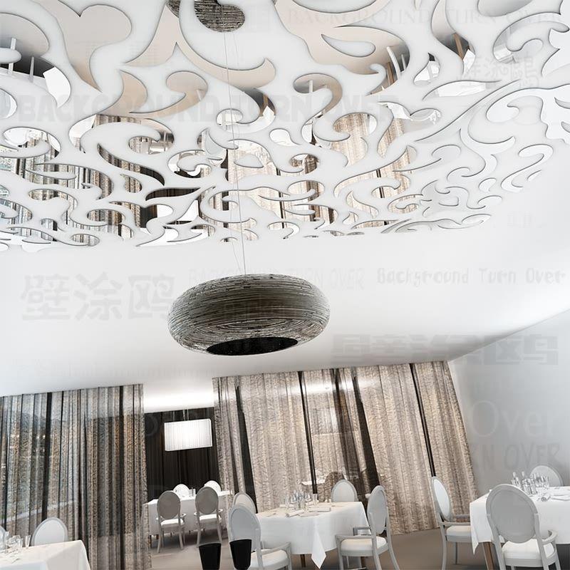 Creative style européen acrylique taille ligne plafond autocollants vintage mur autocollant décor à la maison chambre salon R236