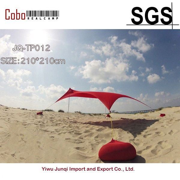 HOT Sea Beach CampingTent tarp Sunshade inflatable Shelter canopy Sand Anchor Carry Bag Canopy Rain Protect Portable 2 Pole