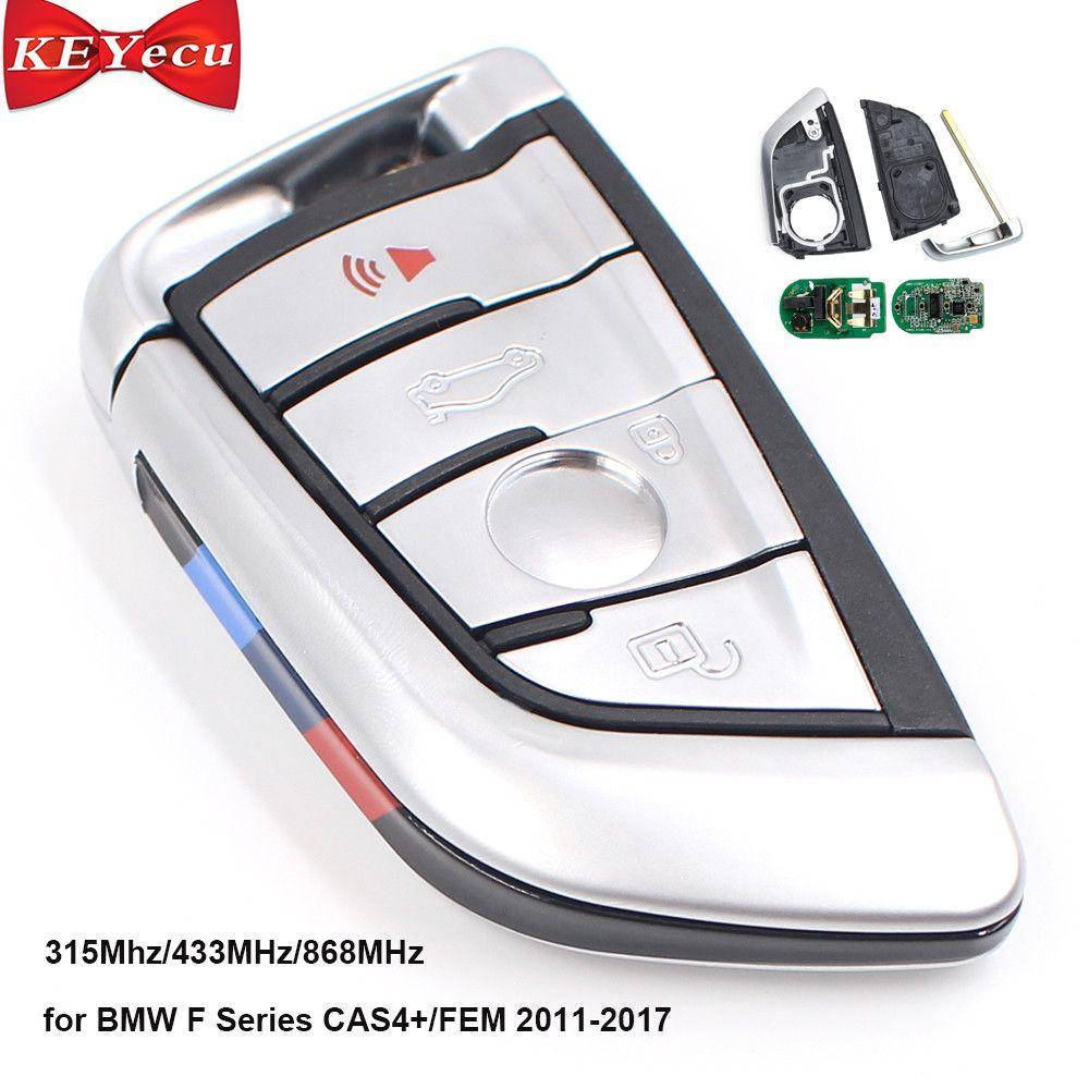KEYECU Smart-Remote-key Fob 315 Mhz/433 MHz/868 MHz 4 Taste für BMW F Serie CAS4 +/FEM 2011-2017