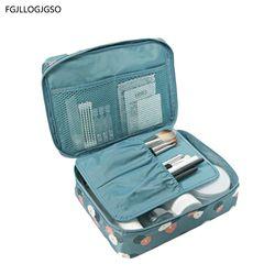 Nouvelle Femelle de grande capacité sac cosmétique maquillage Coréen sac femmes sac à main de stockage portable étanche sac multi-fonction voyage sac
