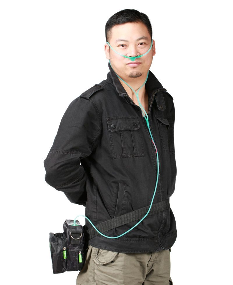 Heißer Verkauf Mini Batterie Sauerstoffkonzentrator Auto Indoor-outdoor-heimgebrauch Sauerstoff Generator Angetrieben durch Auto Adapter und Lithium-Batterie