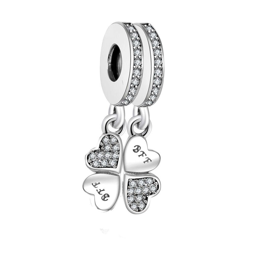 Fit Pandora charme Original Bracelet meilleurs amis pour toujours pendentif charme perle 925 en argent Sterling charme bijoux en gros Berloque