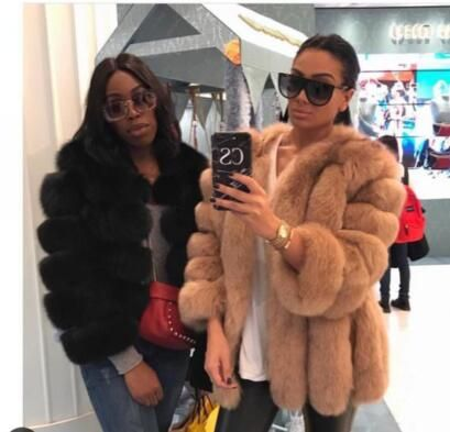 Classsic Fashion Bloggers lovely real Fur coats luxury Strip design IMPORTED Finland Genuine Fox Fur jackets women plus size