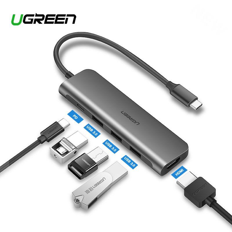 Ugreen USB C HUB USB-C to 3.0 HUB HDMI Thunderbolt 3 Adapter for MacBook Samsung Galaxy S9 Huawei P20 Mate 20 Pro Type C USB HUB