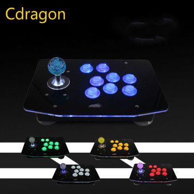 Cdragon No delay light Computer Arcade joystick with light rocker USB joystick handle of the game machine  free shipping