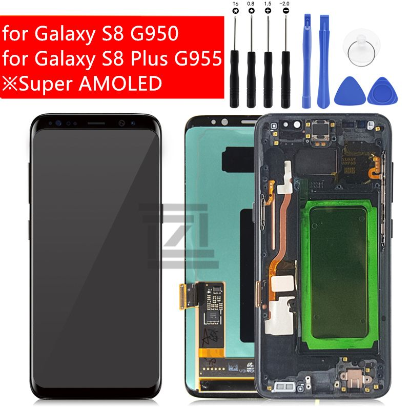 for Samsung Galaxy S8/ S8 Plus LCD Display Touch Screen Digitizer Assembly for Galaxy S8 G950/ S8 Plus G955 Repair Spare Parts