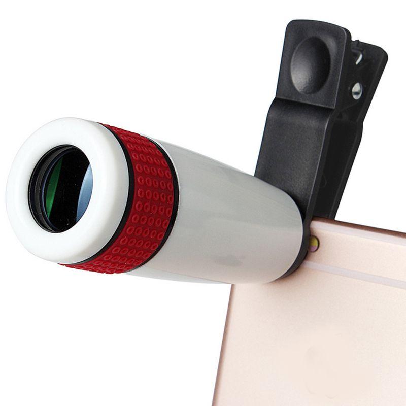 1Pcs Hot Sale 8X 12X HD Mini Portable Mobile Phone Telescope Lens for iPhone 5 6 7 S Plus for Samsung Galaxy s6 s7 edge optics