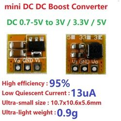 0.7-5 V à 3 V 3.3 V 5 V DC DC Boost Converter tension Step-up Module