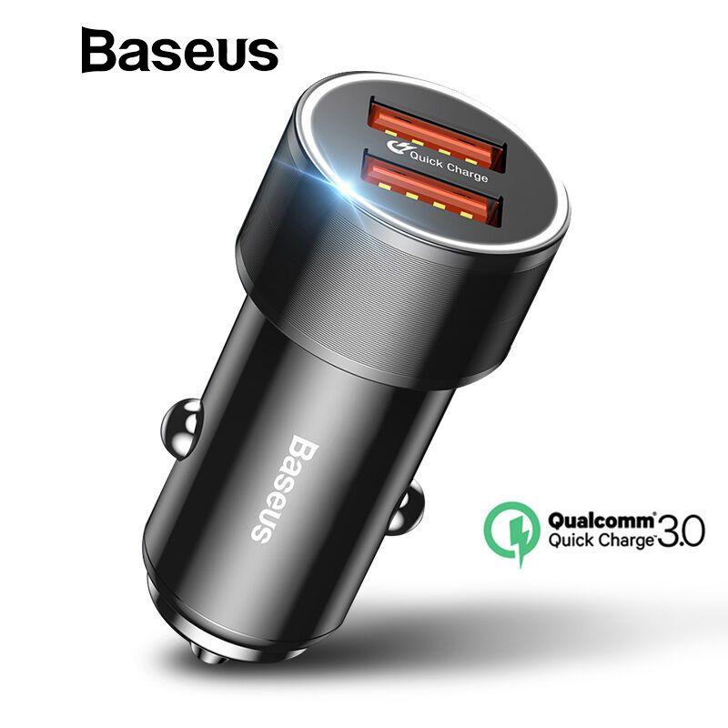 Baseus 36 w Double USB Charge Rapide QC 3.0 Chargeur De Voiture Pour iPhone USB Type-C PD Rapide Chargeur mobile Téléphone Chargeur De Voiture-Chargeur Rapide