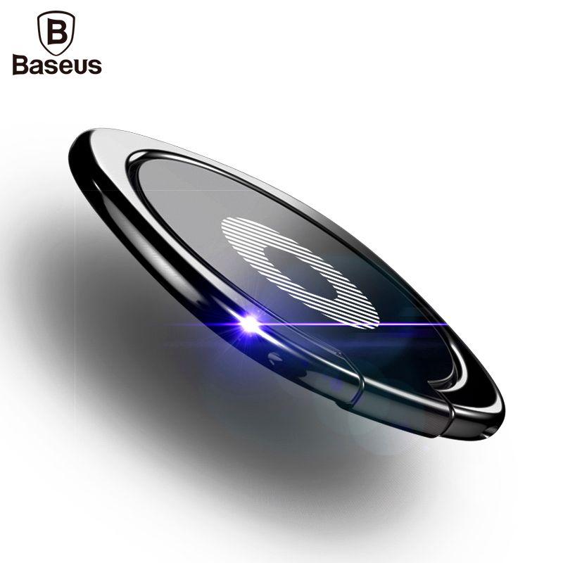 BASEUS роскошные 360 градусов Металл палец кольцо держатель смартфон мобильный телефон Finger Стенд держатель для iPhone 7 6 Samsung Планшеты