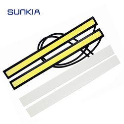 Sunkia 17 см COB DRL светодиодный днем Бег авто лампа Внешнее освещение для Универсальный Автомобильный 100% Водонепроницаемый дневной свет