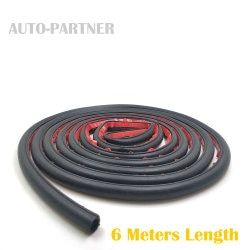 6 Meters Small D 9*10MM Car Sound Insulation Sealing Rubber Strip Anti Noise Rubber 3m Sticky Tape Car Door Seal