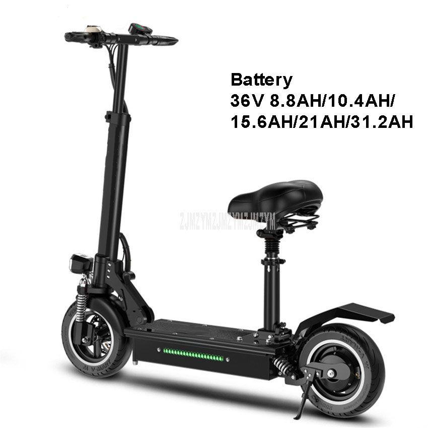 400 W Elektrische Roller Elektrische Skateboard Mit Sitz Faltbare Anstelle Von Fahrrad Stadt Fahren 36 V 8.8AH/10.4AH/ 15.6AH/21AH/31.2AH