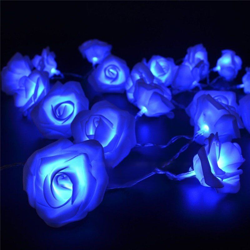 1,2 Mt 10 LED Neuheit Rose Flower Fairy LED Lichterketten Weihnachten Hochzeit Garten Valentinstag Urlaub Beleuchtung Dekoration