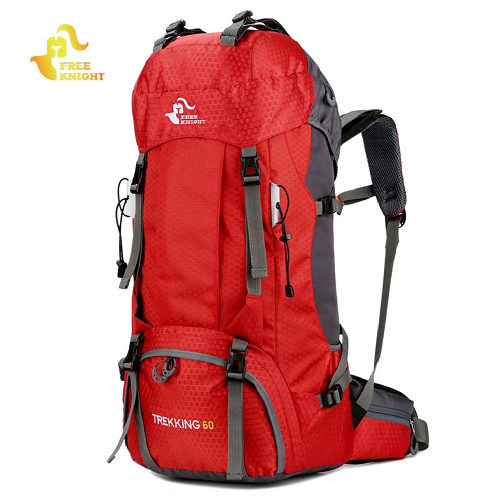 Free Knight 60L Waterproof Climbing Hiking Backpack Rain Cover Bag 50L Camping Mountaineering Backpack Sport Outdoor Bike Bag