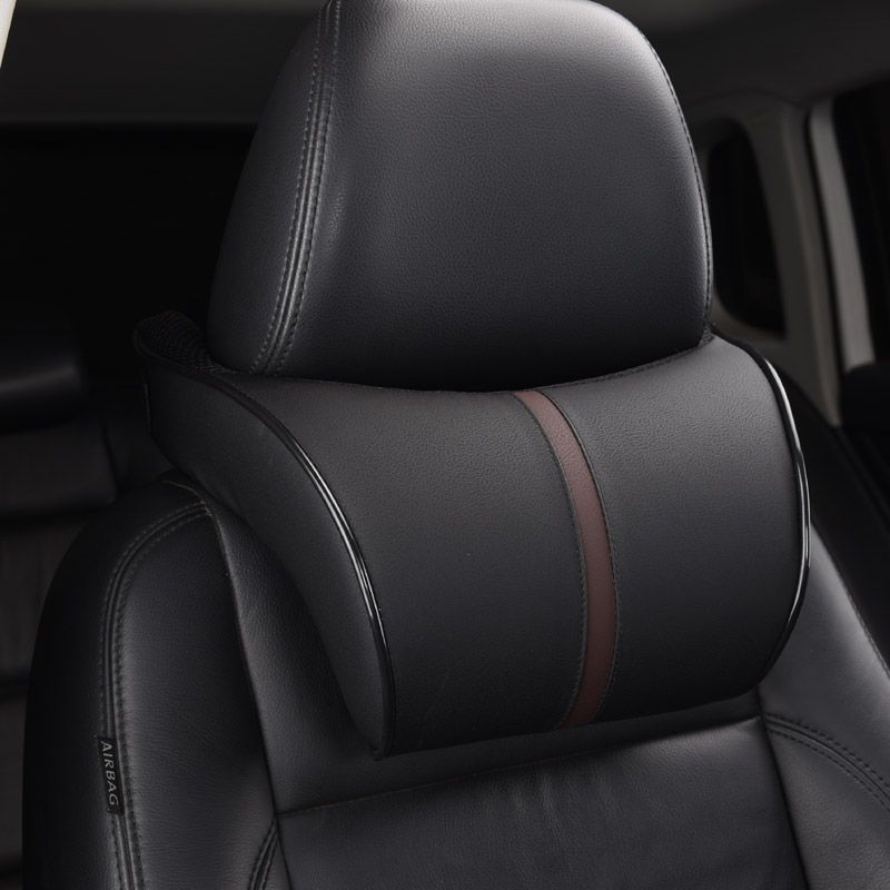 Adjustable Car Headrest Neck Pillow Leahter Auto Neck <font><b>Protection</b></font> Rest Pillows For Seat Waist Supports Cushion Memory Cotton