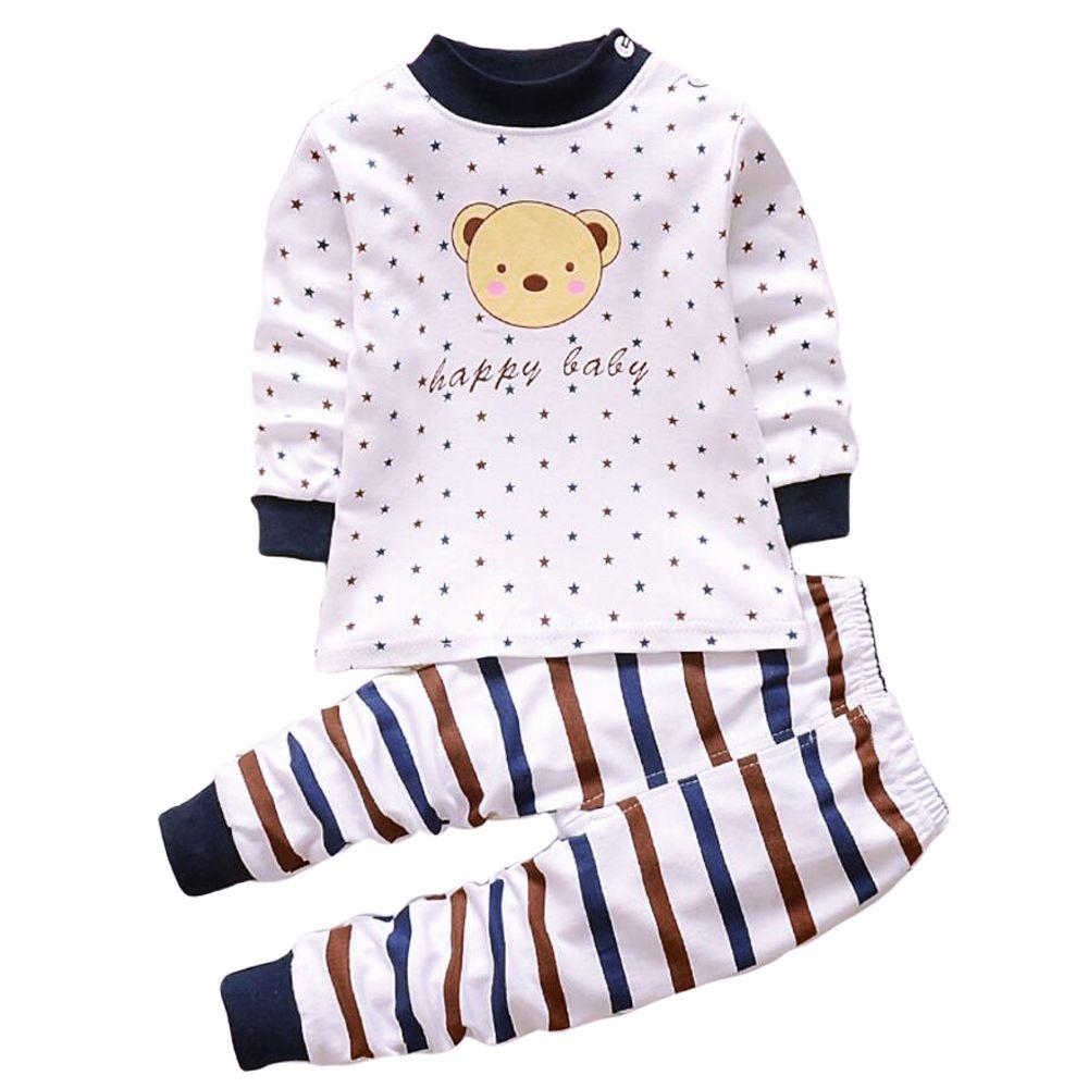 Kleidung Für Neugeborene Kinder Schlaf Kleidung Set Kostüm Schlaf Pyjamas Anzüge für Baby Jungen Kleinkind Pjs Pj Set Nachtwäsche 1 T
