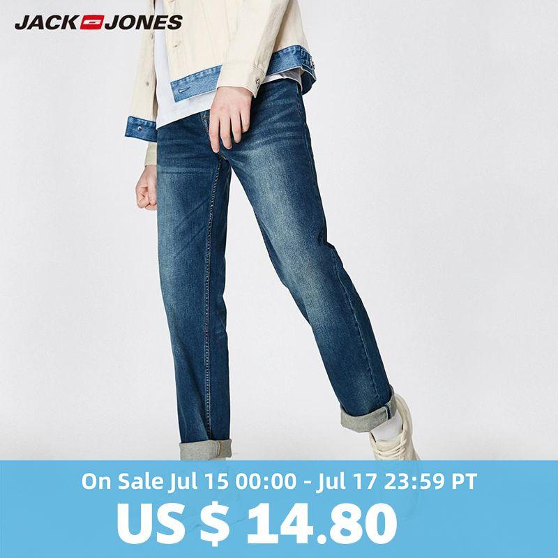 JackJones 2019 Printemps Nouveaux Hommes de Coton Élastique Jeans Stretch Pantalon Loose Fit Denim Pantalon Hommes de Marque De Mode Usure 219132584