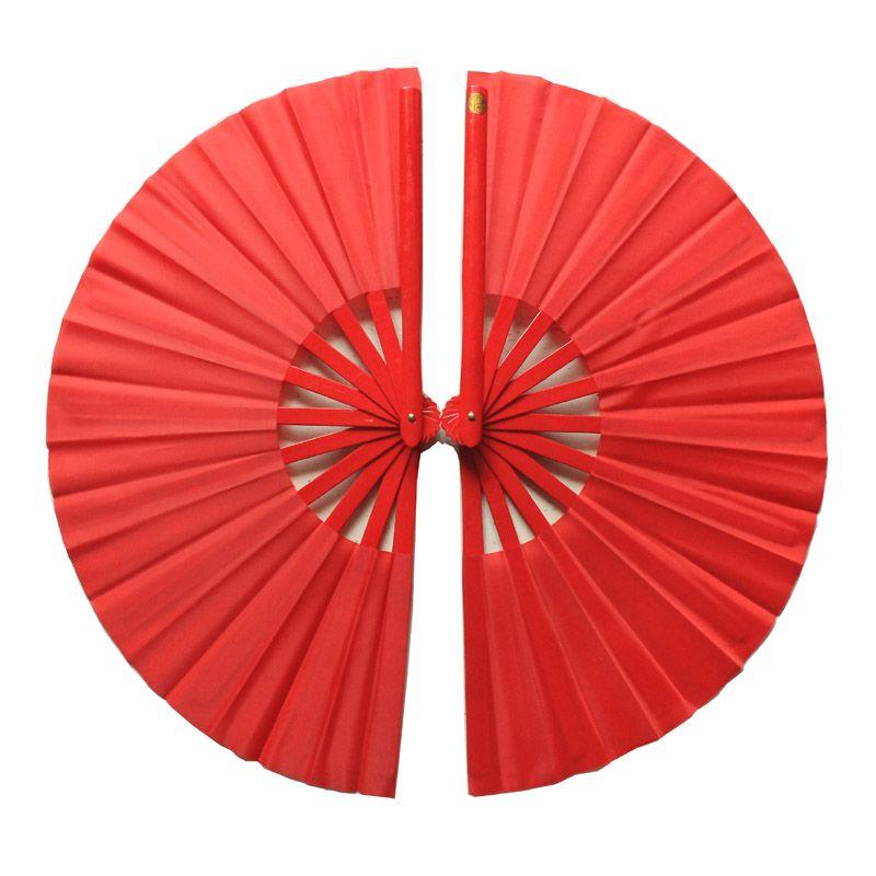 one pair tai chi fan dance fan  ringt and left fan