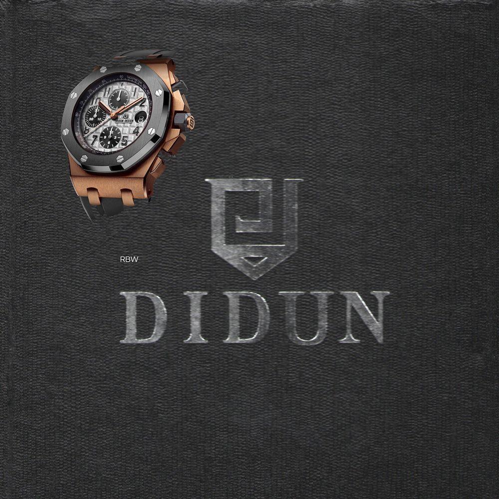DIDUN watch Men Top Brand Luxury Quartz Watch Rosegold Chronograph Sports Watch Shockproof 30m Waterproof Wristwatch