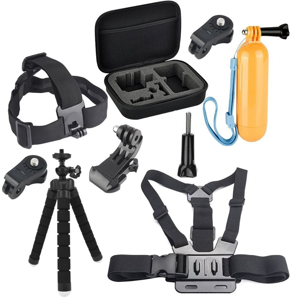 Head Belt Strap Mount Adjustable Carrying Bag Accessories set for Sony Mini Cam Action Camera HDR AS20 AS30V AS15V AS200V AS300