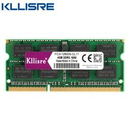 Kllisre DDR3 portátil 4 GB 8 GB 1333 1600 MHz Ram SODIMM memoria portátil