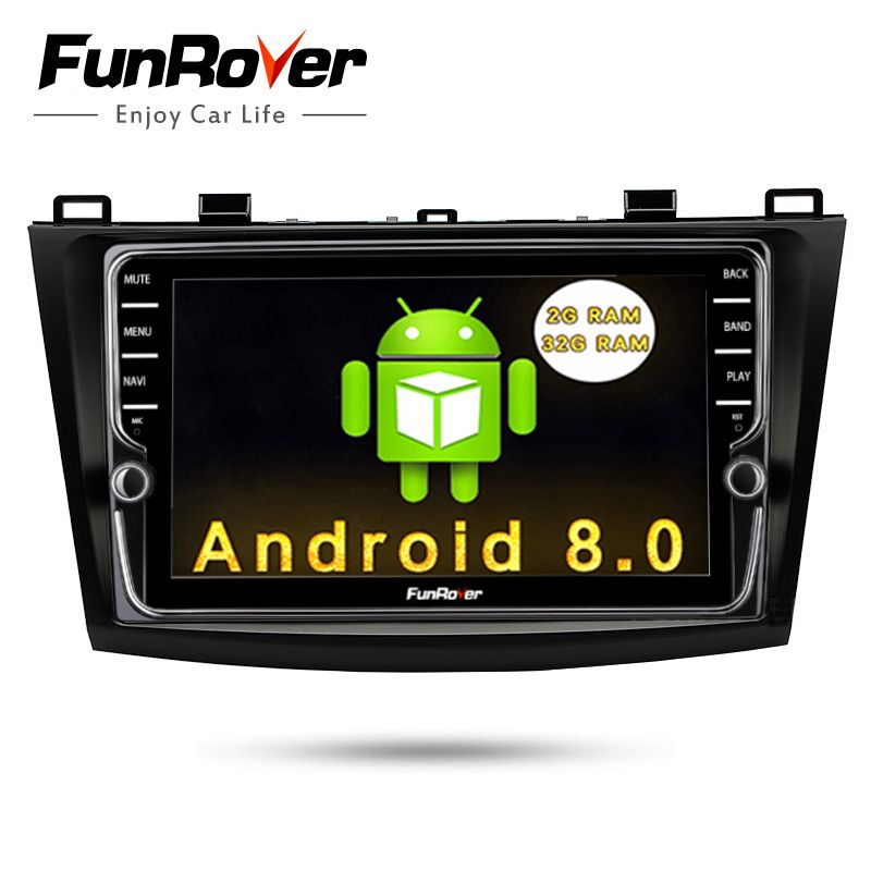 Funrover 2 Din IPS Android 8.0 Car DVD Player For Mazda3 Axela 2009-2012 Car Multimedia gps navigation Car Radio Player 2G 32G